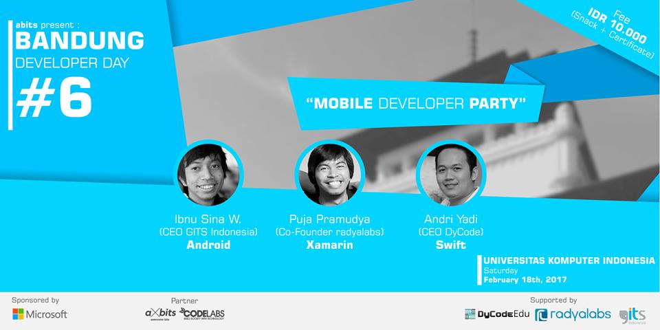 Bandung Developer Day #6 (Mobile Developer Party)