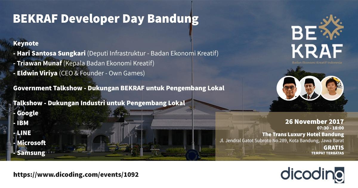BEKRAF Developer Day Bandung