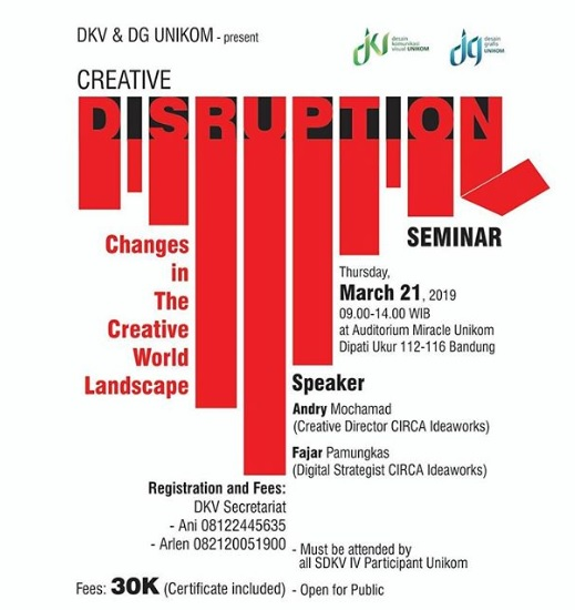 """Creative Disruption"" Prodi DKV dan Desain Grafis Unikom"