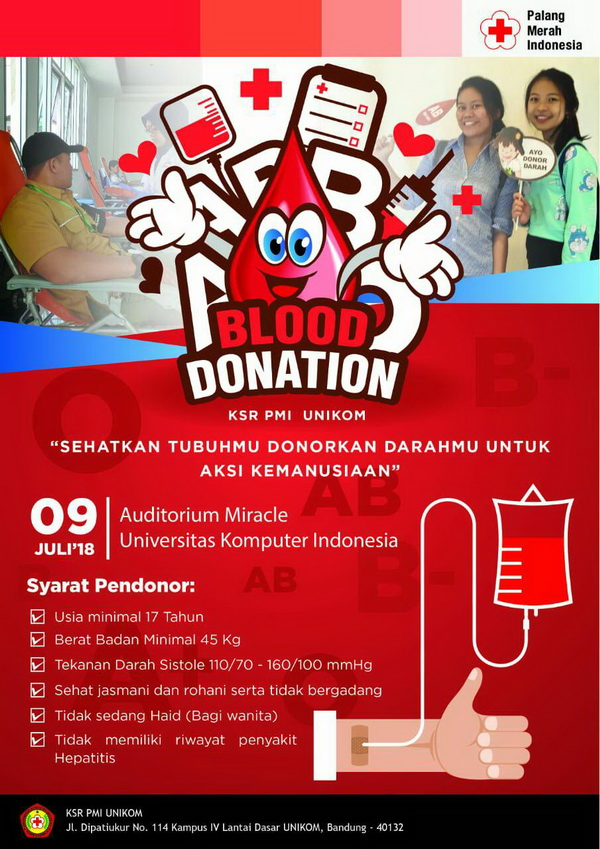 Donor Darah Ke-43 KSR PMI Unikom