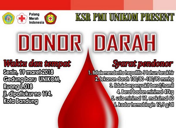 Donor Darah KSR-PMI Unikom Ke-41