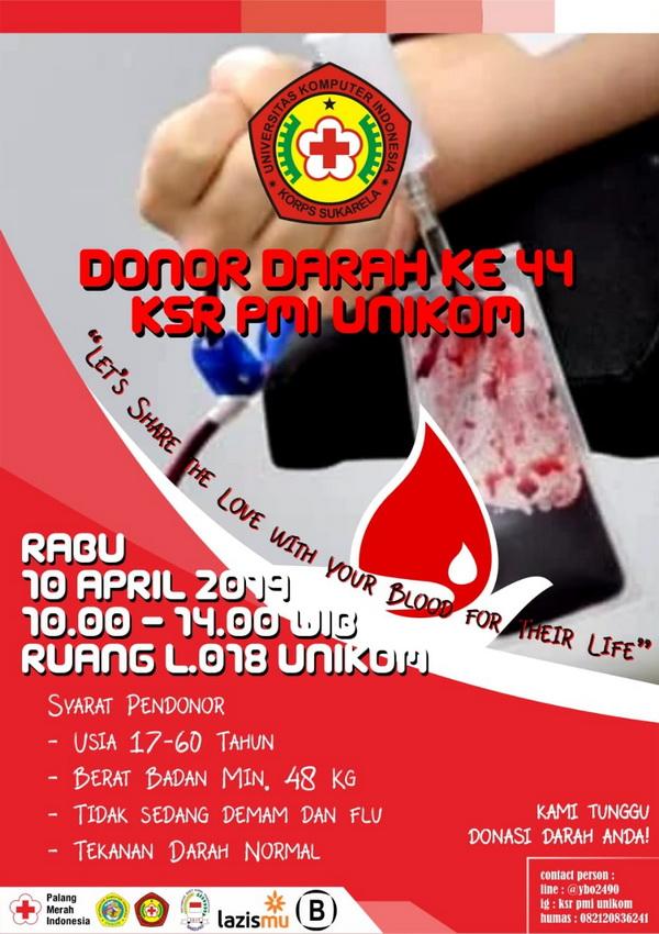 Donor Darah KSR PMI UNIKOM Ke-44