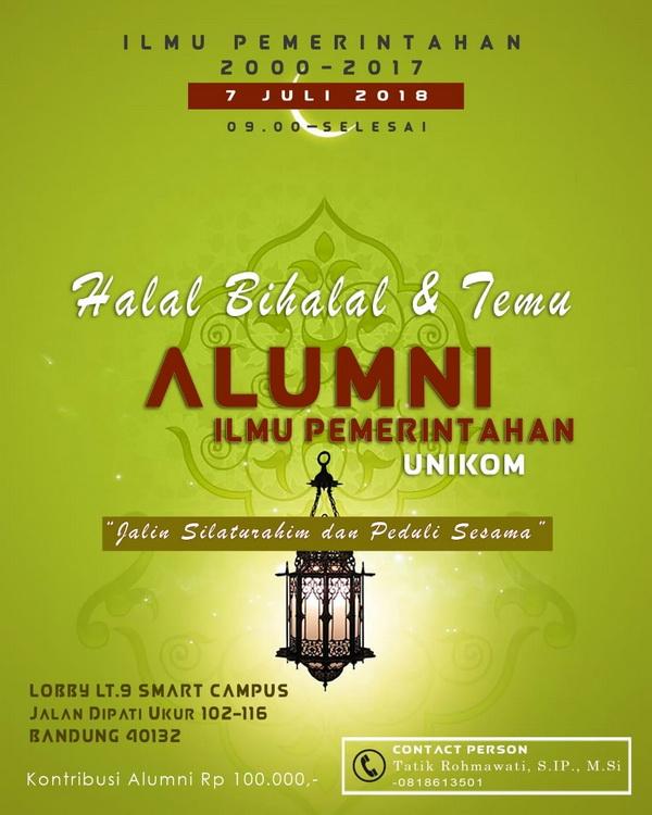 Halalbihalal Dan Temu Alumni Ilmu Pemerintahan Unikom