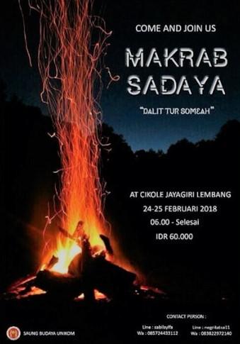 Info Kegiatan: Makrab Sadaya 2018