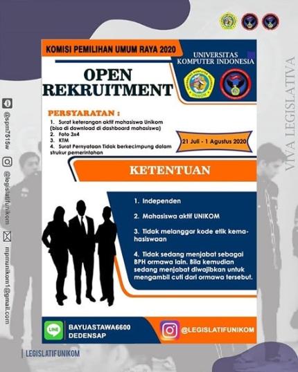 Info Open Recruitment Legislatif Unikom 2020