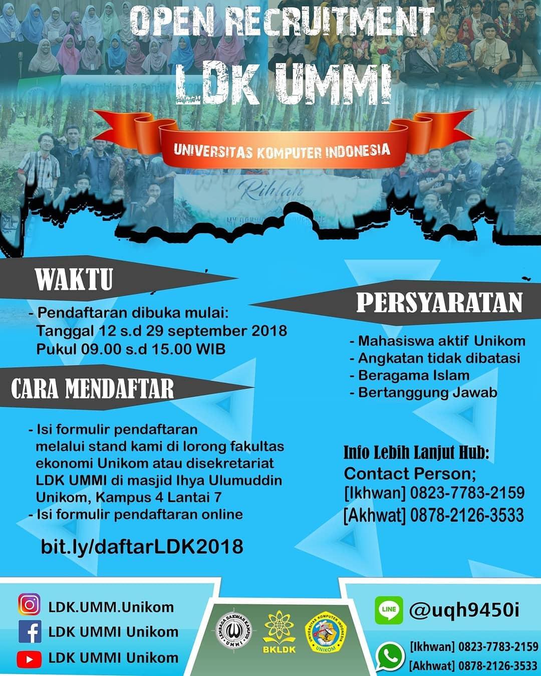 Info Recruitmen: LDK UMMI 2018