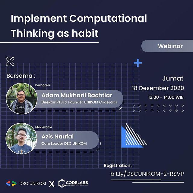 Informasi Webinar: Implement Computational Thinking as Habit