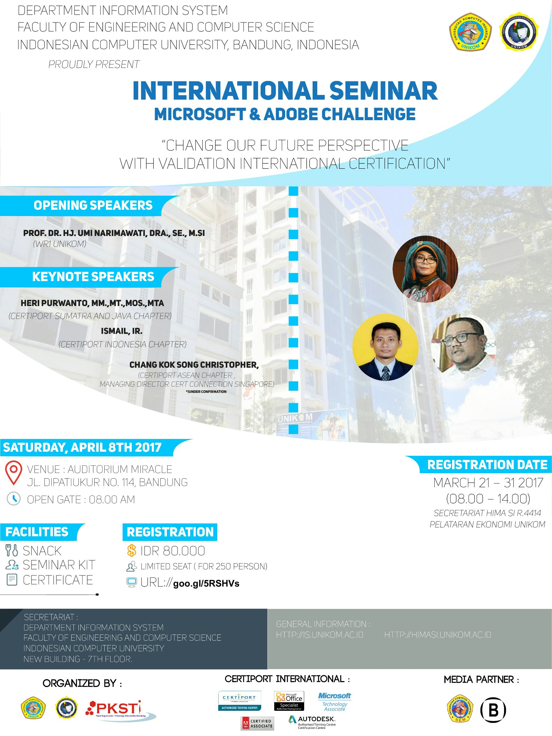 INTERNATIONAL SEMINAR MICROSOFT & ADOBE CHALLENGE
