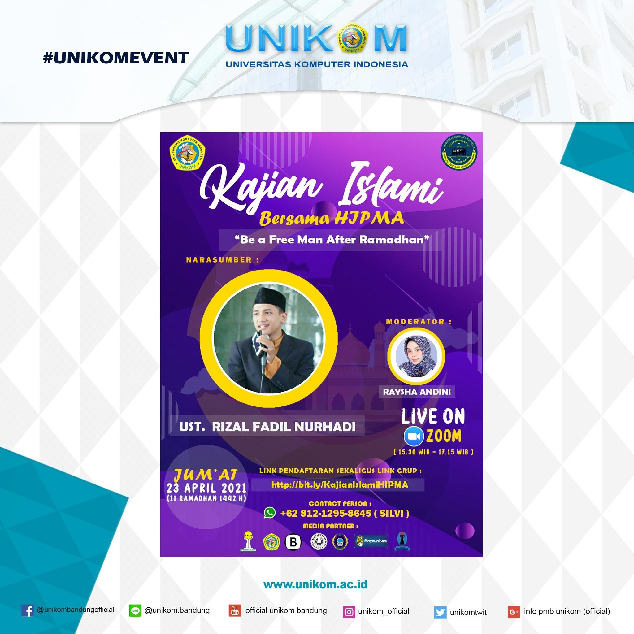 Kajian Islami Bersama Hipma Unikom: Be a Free Man After Ramadhan