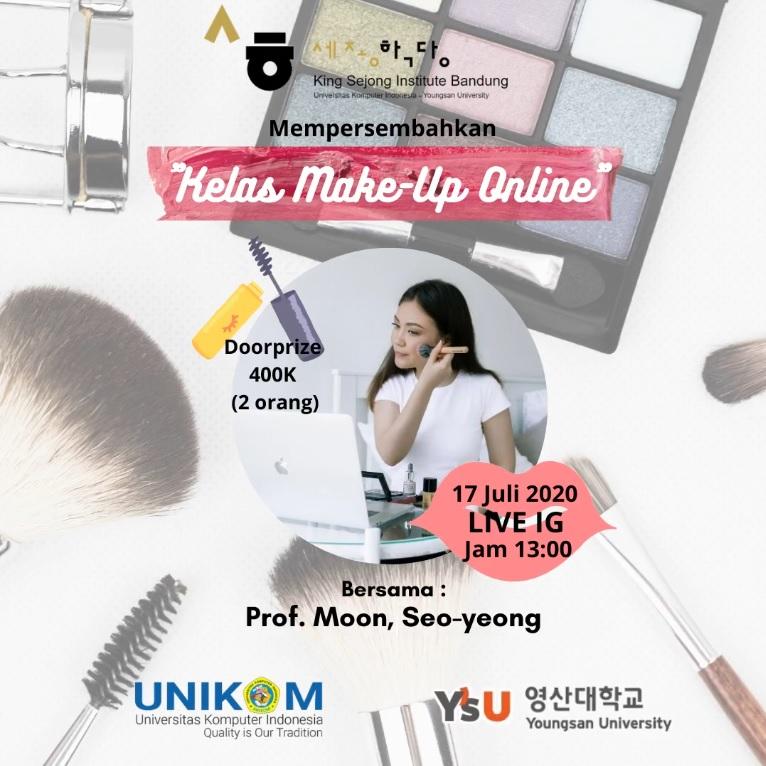 Kelas Make-Up Online by King Sejong Institute Bandung