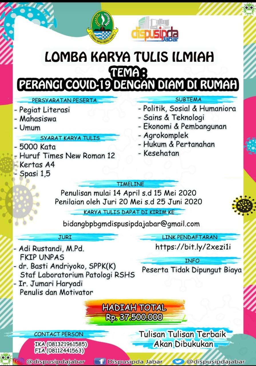 Lomba Karya Ilmiah Dinas Perpustakaan Dan Kearsipan (Dispusipda) Provinsi Jawa Barat