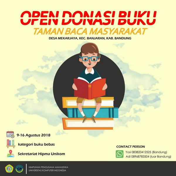 Open Donasi Buku 2018