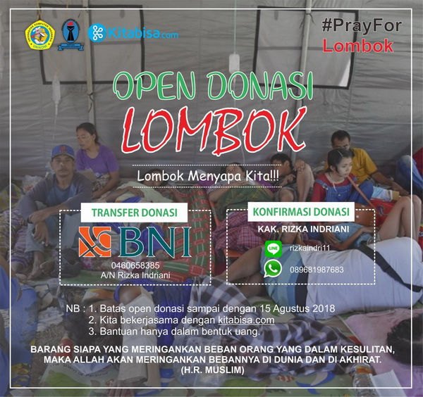 Open Donasi Lombok Bersama Himpunan Mahasiswa Manajemen Unikom