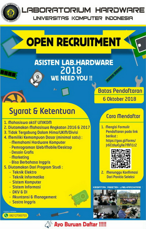 Open Recruitment Asisten Lab. Hardware 2018