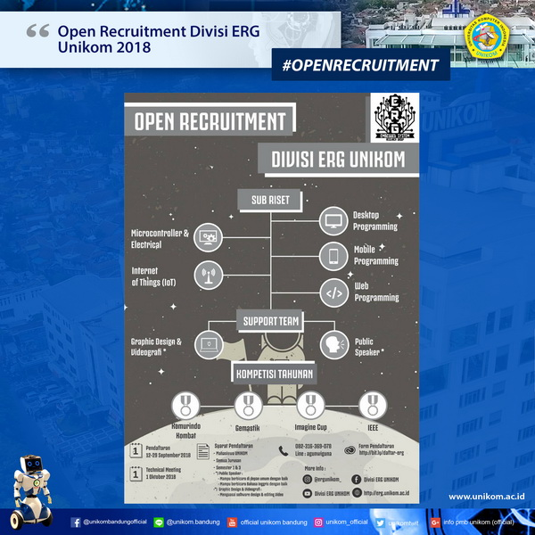 Open Recruitment Divisi ERG Unikom 2018
