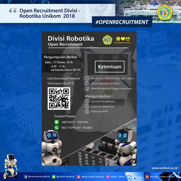 Open Recruitment Divisi Robotika Unikom 2018