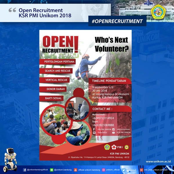 Open Recruitment KSR PMI Unikom 2018