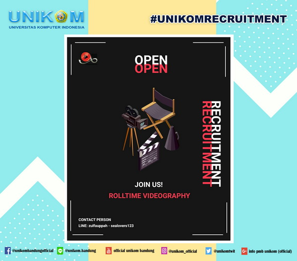Open Recruitment : Rolltime Video Unikom  2019