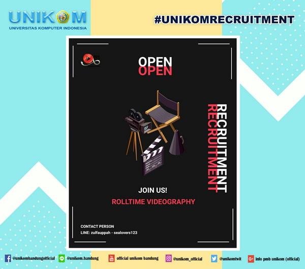 Open Recruitment : Rolltime Video Unikom  2019