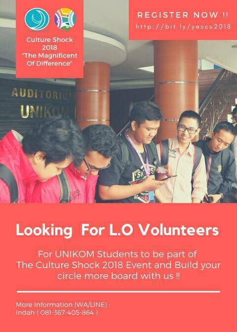Open Recruitment Volunteer for Culture Shock