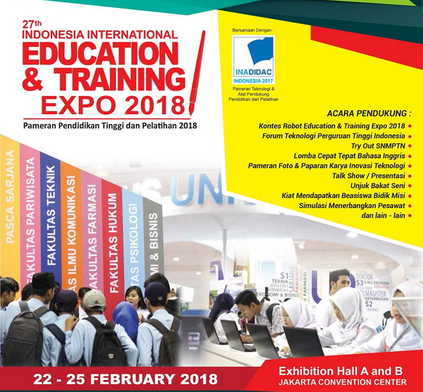 Pameran Pendidikan Indonesia International Education & Training Expo (IIETE) 2018