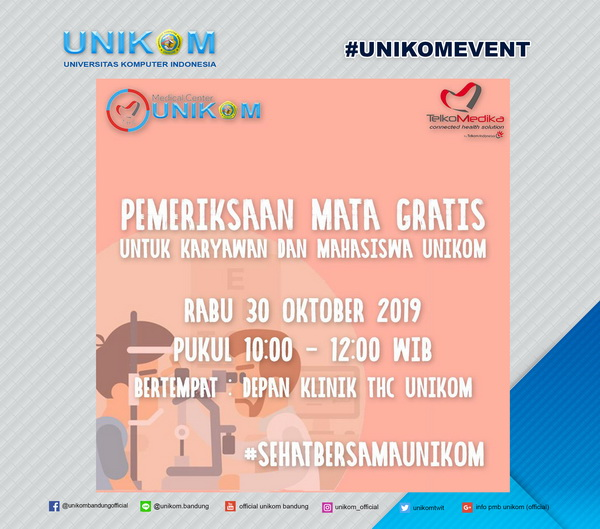 Pemeriksaan Mata Gratis – Medical Center Unikom 2019