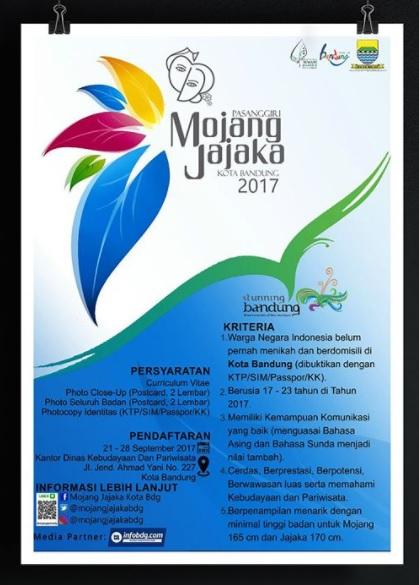 Pendaftaran Mojang Jajaka Kota Bandung 2017