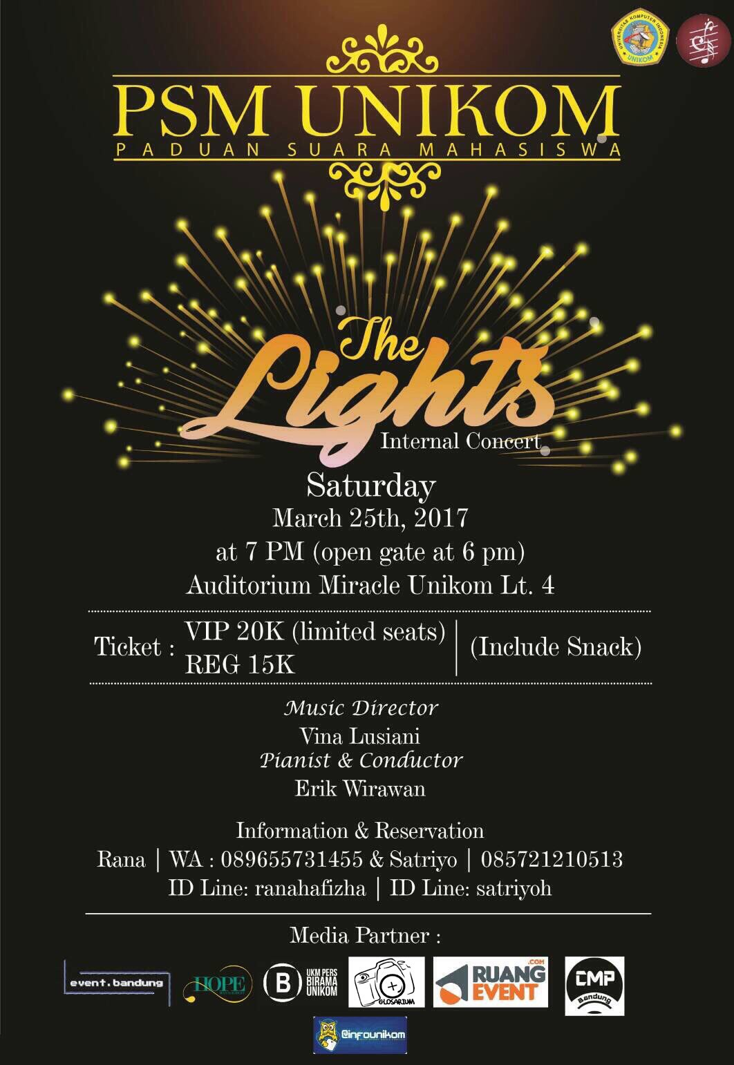 "PSM UNIKOM Internal Concert ""The Lights"""