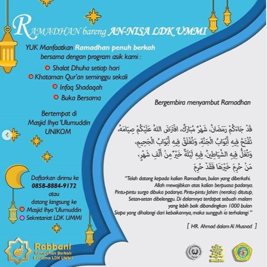 Ramadhan Bareng An-Nisa LDK Ummi Unikom