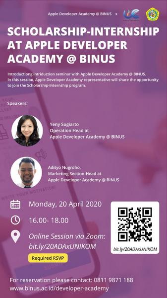 Scholarship & Internship Seminar at Apple Developer Academy