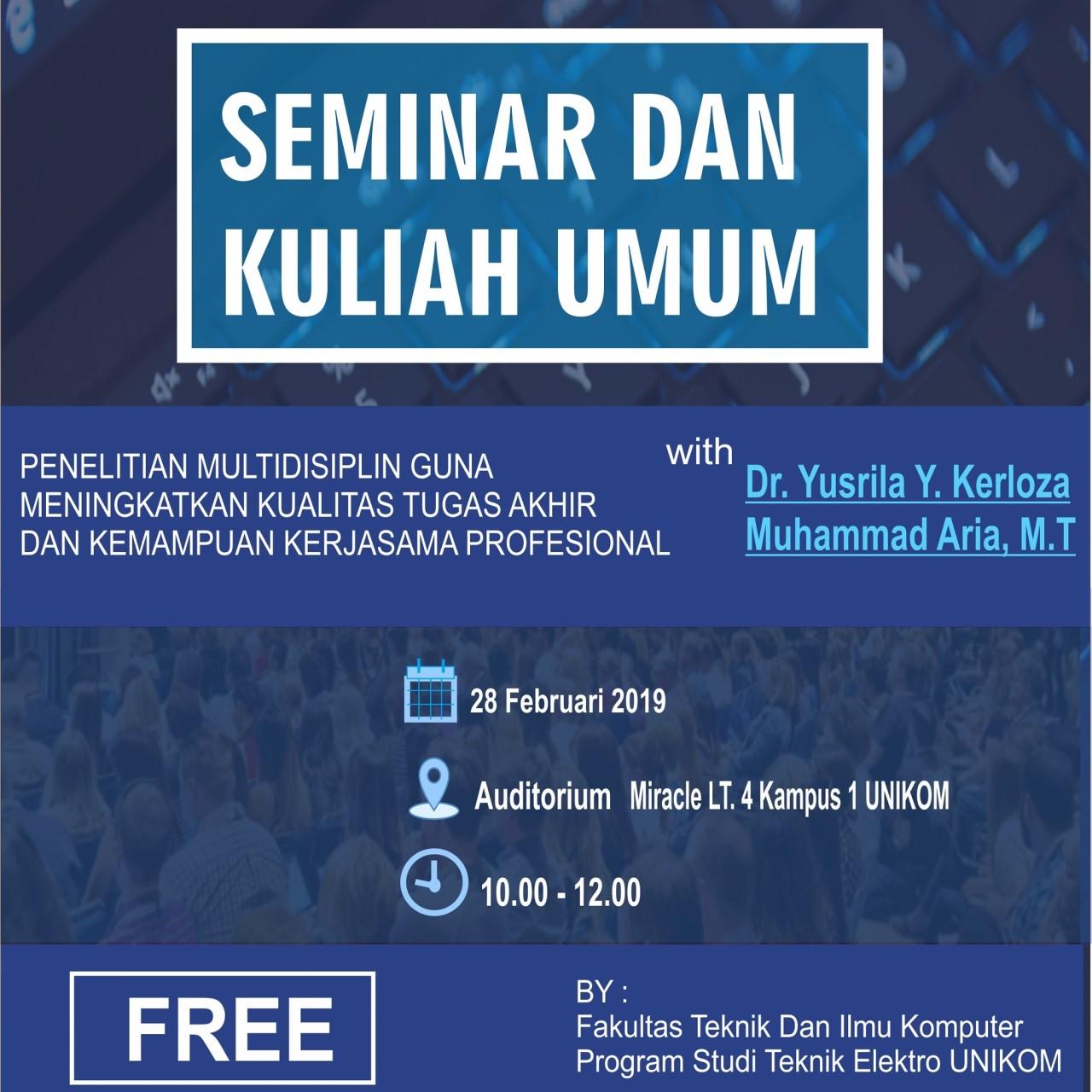 Seminar dan Kuliah Umum Teknik Elektro 2019