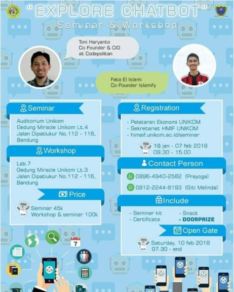 Seminar dan Workshop 'Explore Chatbot'
