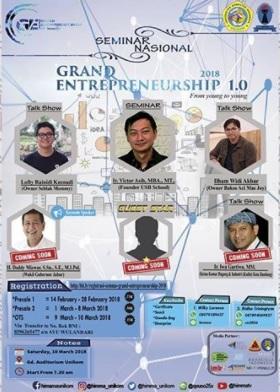 """Seminar Nasional """"Grand Entrepreneurship 1.0"""""""