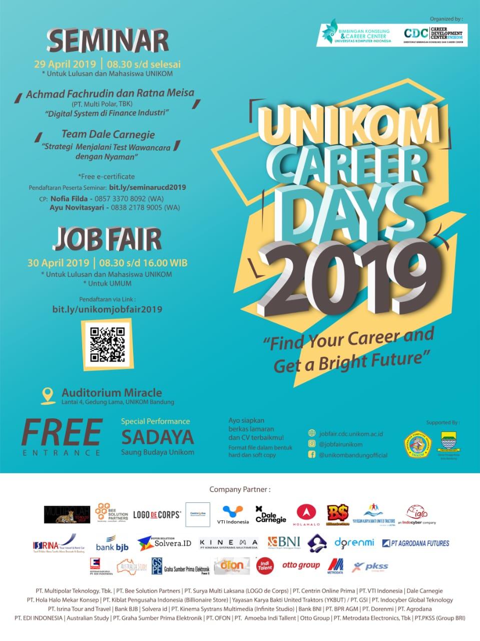 Seminar & Job Fair Unikom 2019