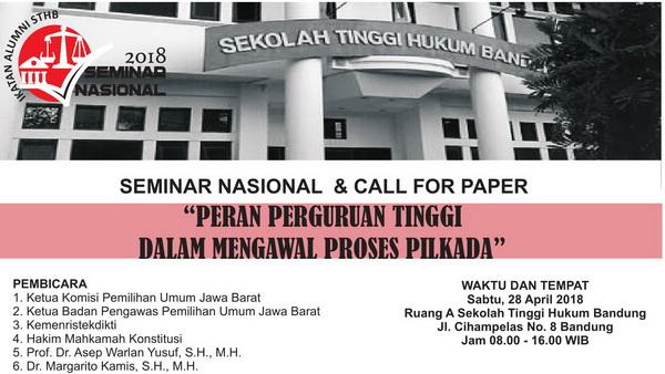 Seminar Nasional & Call For Paper 2018