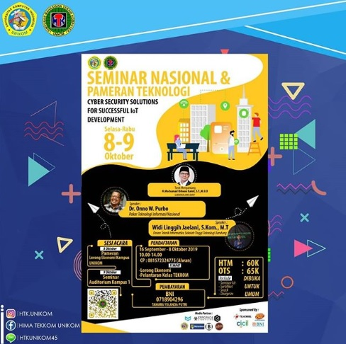 "Seminar Nasional dan Pameran Teknologi ""Cyber Security Solution for Succsessful IoT Development"" 2019"