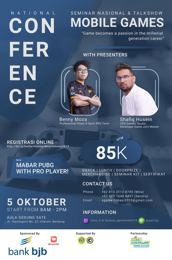 Seminar Nasional dan Talkshow 'Game Mobile' 2019