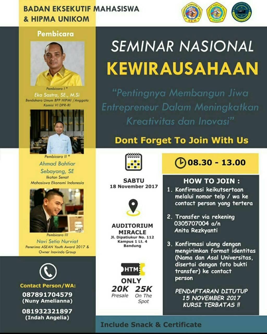 Seminar Nasional Kewirausahaan