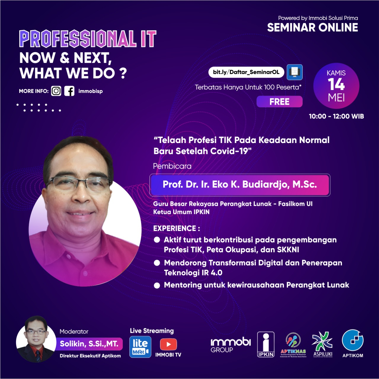 Seminar Online : Professional IT, Now and Next, What We do?