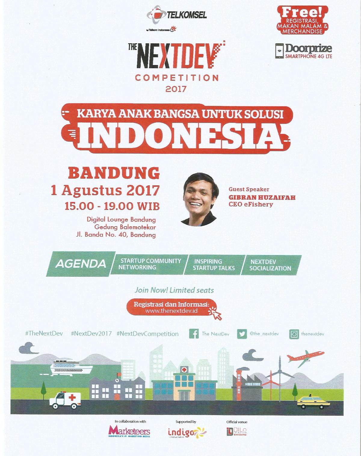 Sosialisasi The NextDev Competition 2017