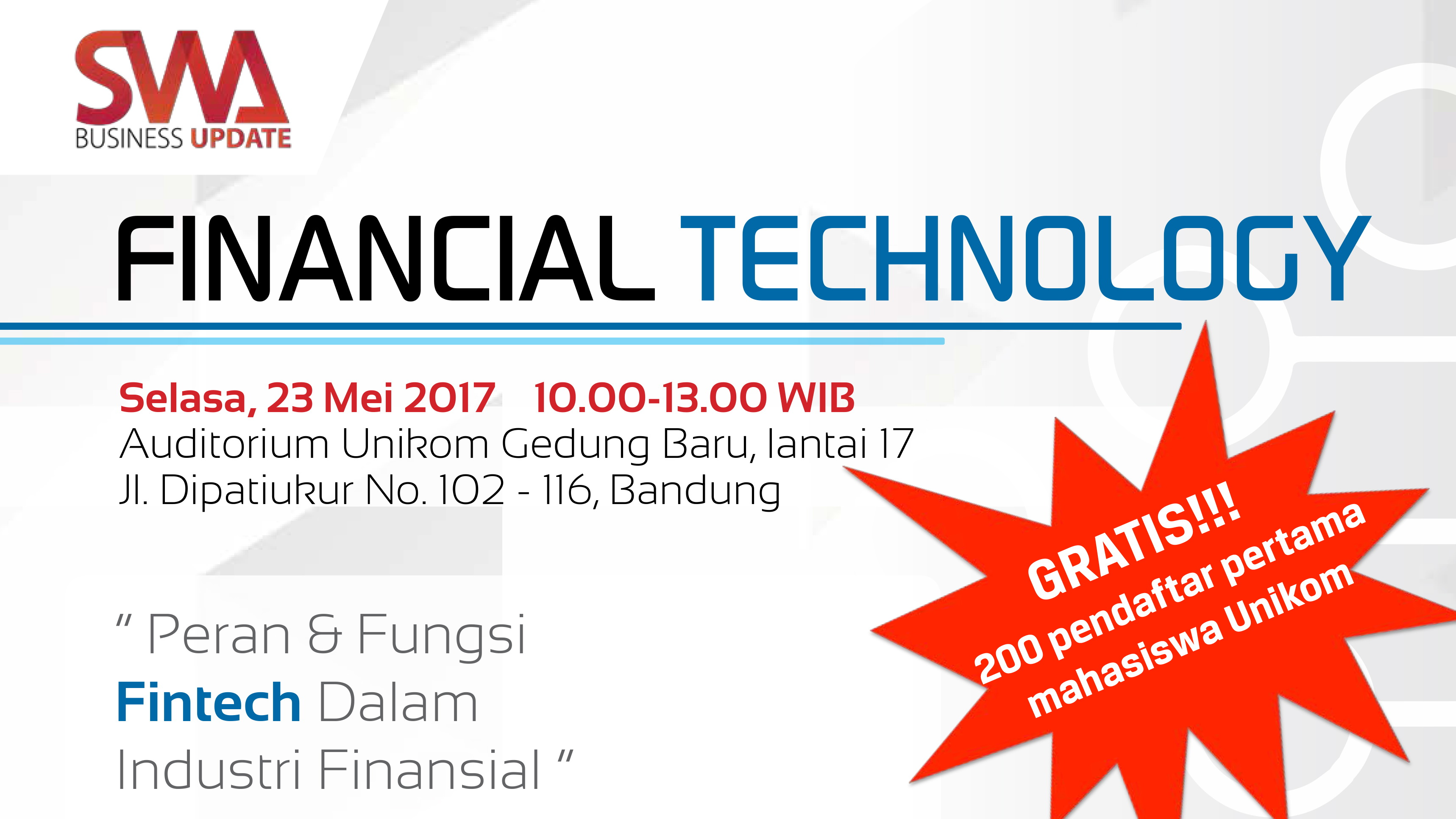 SWA BUSINESS UPDATE UNIKOM-FINANCIAL TECHNOLOGY