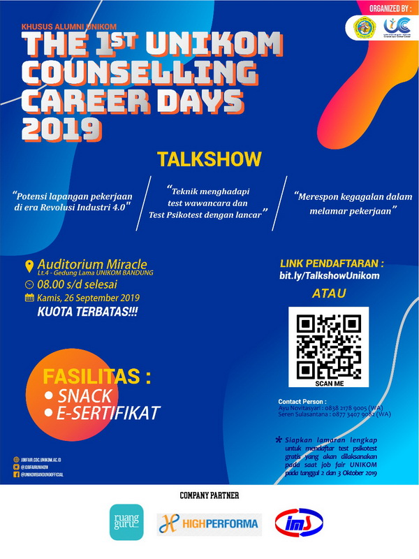 The 1st Unikom Conselling Career Days 2019