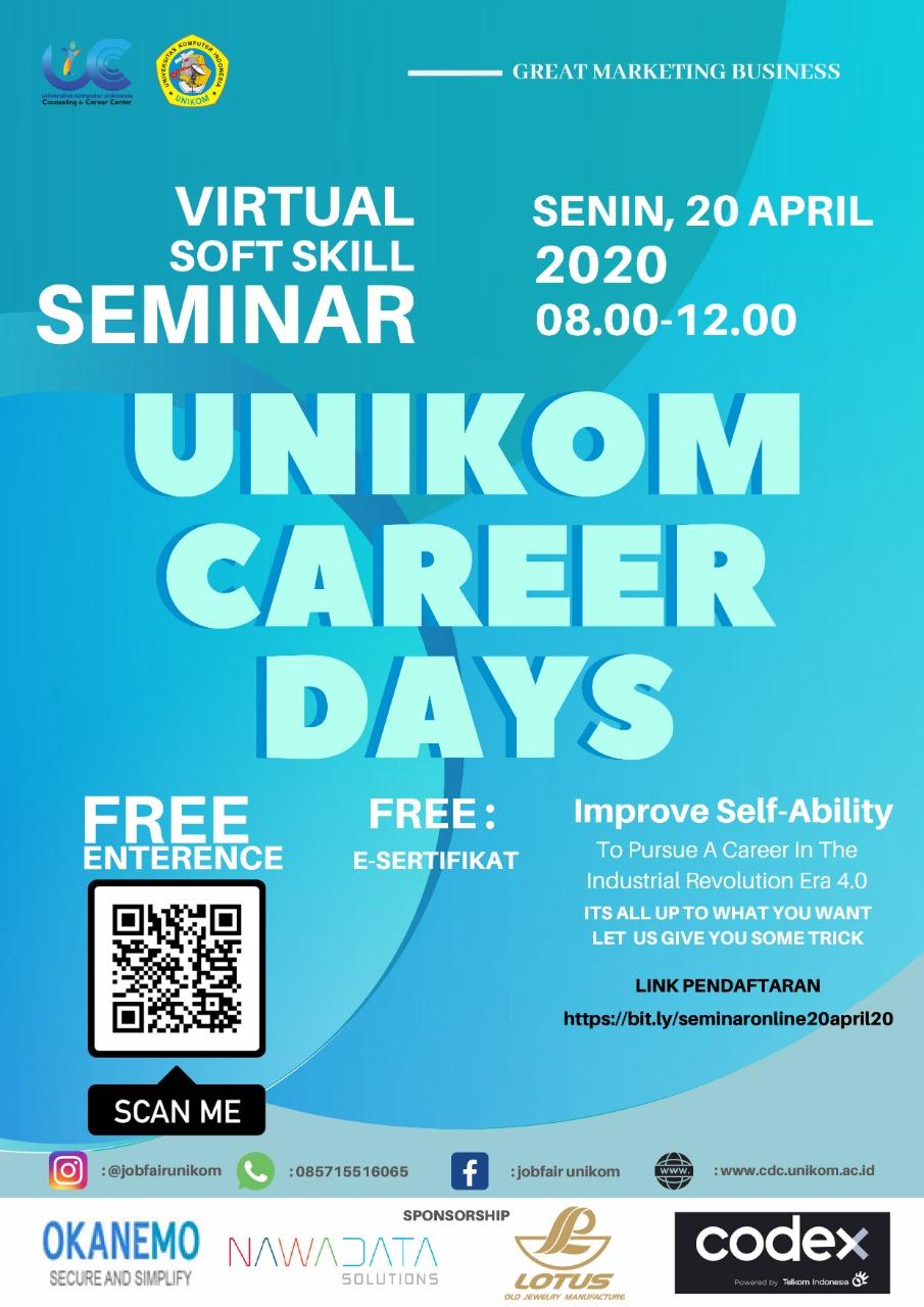 Virtual Softskill Seminar  - Unikom Career Days 2020