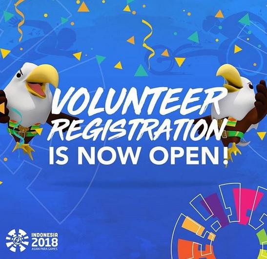 Volunteer Asian Para Games 2018