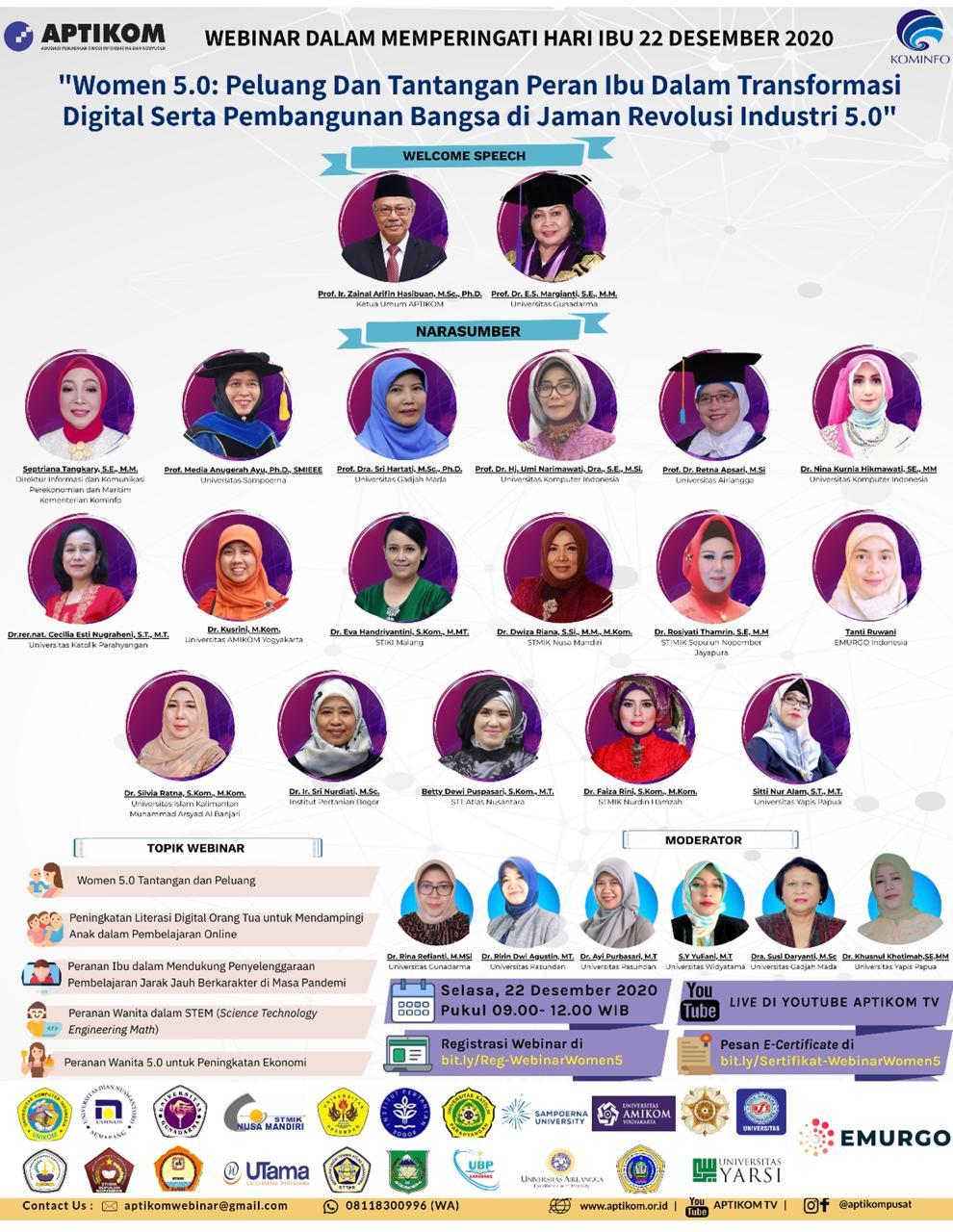 Webinar Memperingati Hari Ibu 22 Desember 2020