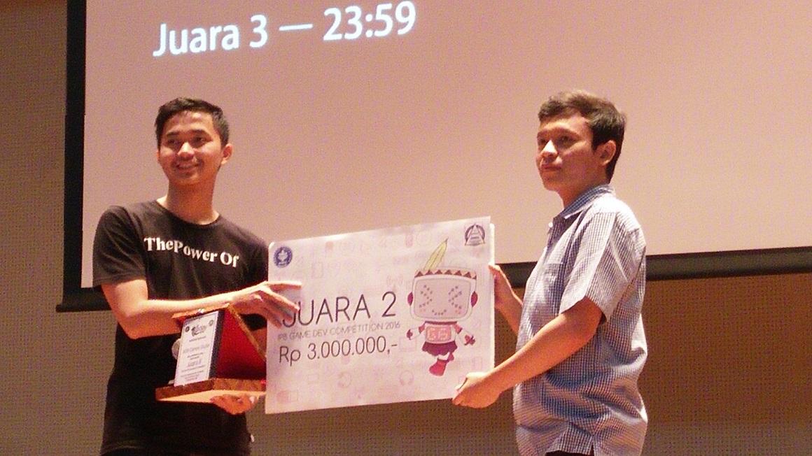Tim Ada Game Studio dari UNIKOM Codelabs dengan aplikasi tapto menjadi juara ke 2 di kompetisi IDGS